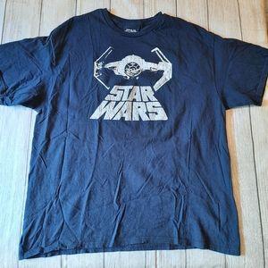 Star Wars Men Tie Fighter Navy Blue Tee Shirt 2XL